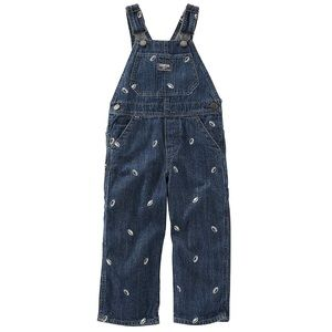 OshKosh B'gosh Football Denim Overalls | 12 Months